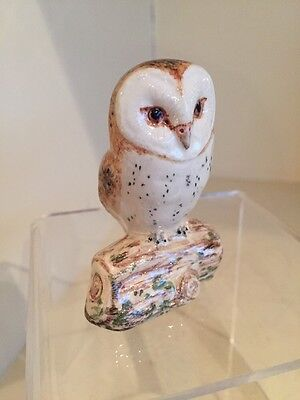 An Enchanting Porcelain Owl Signed By Miranda Smith