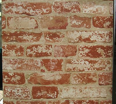 YORK RED BRICK LOOK Sure Strip wallpaper Double Roll