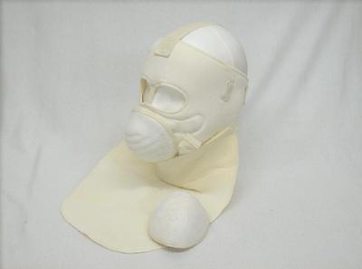 US GI surplus extreme cold weather face and neck protection mask set white new