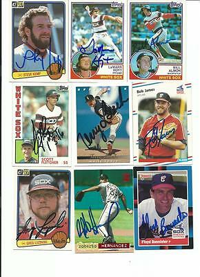 Chicago   White   Sox       9     Card   Autographed   Lot