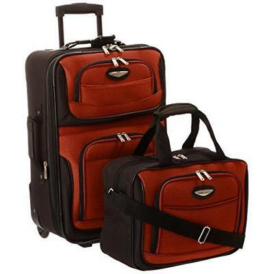 Travel Select Amsterdam Two Piece Carry-On Luggage Set - Orange New