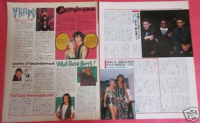 Kylie Minogue & Michael Hutchence INXS 1990 CLIPPING JAPAN MAGAZINE PG 3A 2PAGE