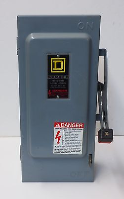 Square D H361 Safety Switch 30 Amp 600 Volt