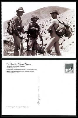 Mount Everest Expedition 1922 Postcard Naked George Mallory, Somervell Wakefield