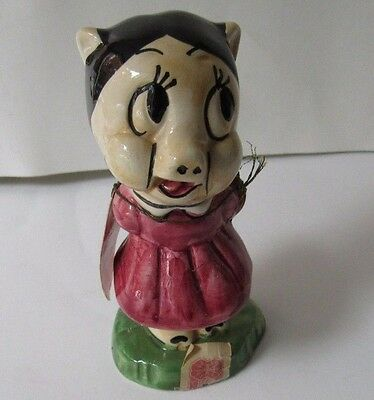 Vintage 71 Carosello Warner Brothers Decanter Hand Painted In Italy Petunia Pig