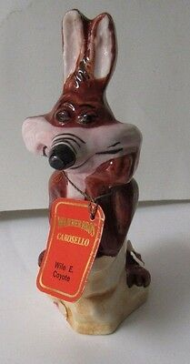 Vintage Carosello Warner Brothers Decanter Hand Painted In Italy Wile E. Coyote