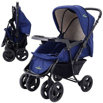US Two Way Foldable Baby Kids Travel Stroller Newborn Infant Pushchair Buggy