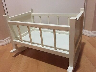Pottery Barn Doll Cradle, White Wood