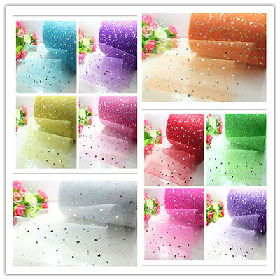 Sequin Shimmer Tutu Tulle Fabric Sewing Bridal Wedding Decor Crafts 8Pc*3Yard