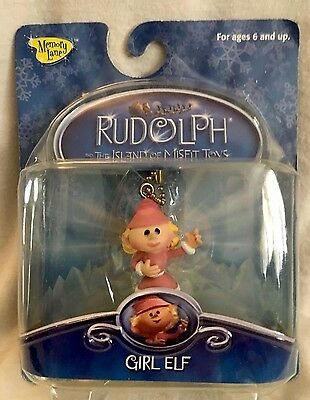 """Rudolph and The Island of Misfit Toys """"GIRL ELF CLIP-ON"""" UNOPENED 2002 VHTF NOS"""
