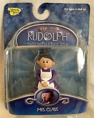 """Rudolph and The Island of Misfit Toys """"MRS CLAUS CLIP-ON"""" UNOPENED 2002 VHTF NOS"""