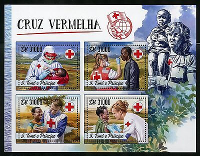 Sao Tome 2016 Red Cross Sheet Mint Nh