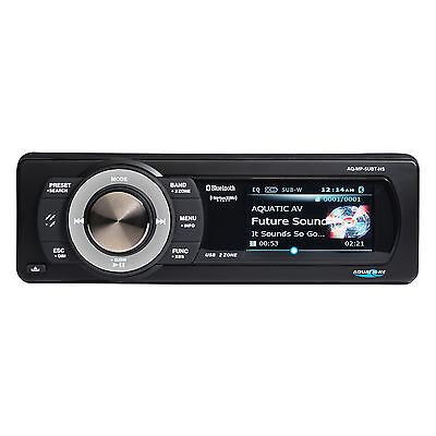Aquatic AV Bluetooth Stereo SiriusXM Harley Replacement Radio Bluettooth Color S