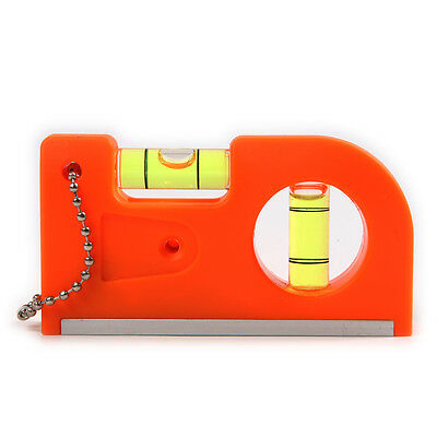 1pc Portable ABS Level Woodworking Tool With Magnet V Stripe 85*45*19.5mm