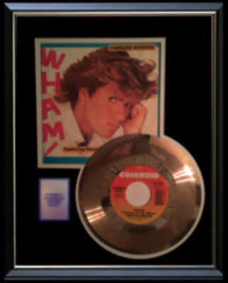 George Michael Wham Careless Whisper Rare Gold Record Disc & 45 Rpm Color Sleeve