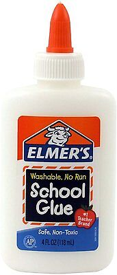 Elmer's Washable No-Run School Glue, 4 oz,  1 Bottle (E304), New