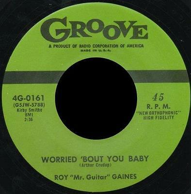 "ROY GAINES * Worried 'Bout You Baby + All My Life 7"" Neu  R&B Repro"