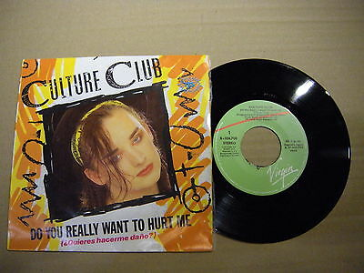 Culture Club ‎– Do You Really Want To Hurt Me (¿Quieres'  7'' MINT  SPAIN PRESS