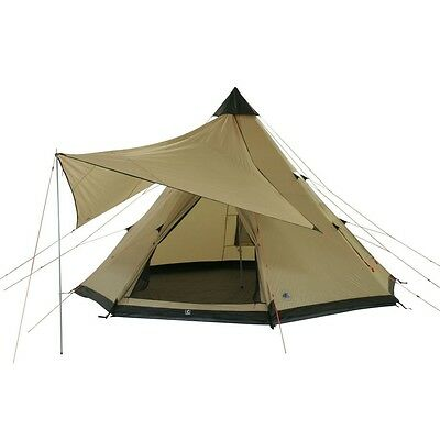 10T Shoshone 500 - 10-person teepee tent, pyramid tent, sewn in ground sheet, ca