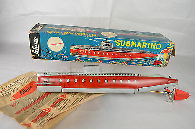 "Schuco #3007 Submarine 13"" Long Clockwork Western Germany  Excellent With Box"