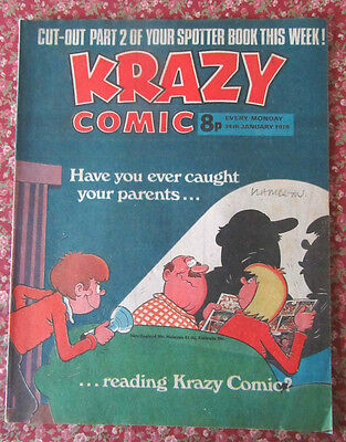 Krazy Comic. 14  January 1978. Vfn Condition.