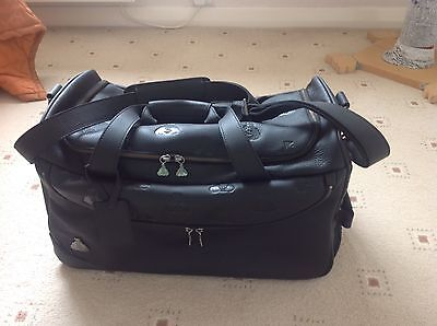 Kiss Gene Simmons Leather Dussault Carry On Money Bag New