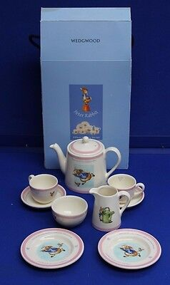 Wedgwood Peter Rabbit 9 Piece Nursery Tea Set - Complete (Hospiscare)