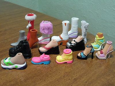 Bratz Shoe Lot Of Mixed Shoes NO MATCHING PAIRS Lot of 16 Individual Shoes