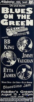 B.B. KING / JIMMY VAUGHAN / ETTA JAMES 1995 DENVER CONCERT TOUR POSTER - Blues