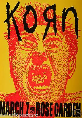 KORN 2000 PORTLAND CONCERT SICK + TWISTED TOUR POSTER - Man With Open Mouth