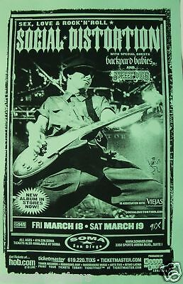 SOCIAL DISTORTION 2005 SAN DIEGO CONCERT TOUR POSTER - Mike Ness Playing Guitar