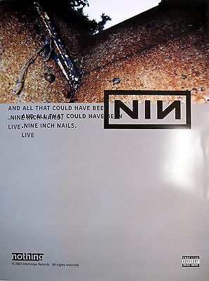 "Nine Inch Nails ""and All That Could Have Been"" 2-Sided U.s. Promo Poster"