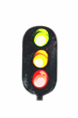 NJ International N Scale 3 Color LED Green/Yellow/Red Block Signal Head 2102