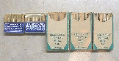 Nos Lot Of Vintage Reliance & Maillefer Dental Burs, Switzerland