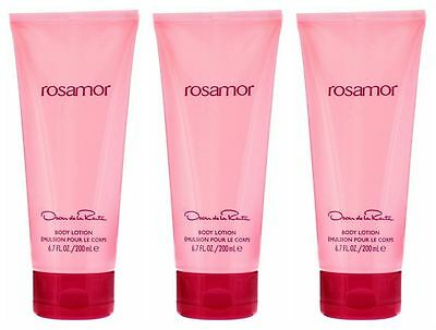 Rosamor by Oscar de la Renta Body Lotion 200ml choose one or three tubes