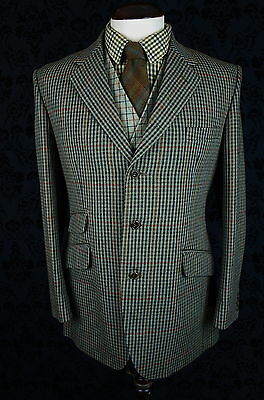 Superb Mens Vtg John G Hardy Hacking Tweed Check Jacket Blazer 42 Reg Large