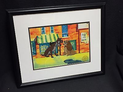 Lady And The Tramp Walt Disney Disney's Animation Limited Edition Serigraph Cel