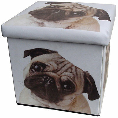 Pug Folding Storage Box 32 x 32 x 32 cm
