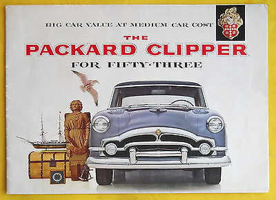 "1953 PACKARD CLIPPER Brochure Dealer Literature Poster ""Combined US Shipping"""