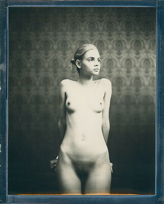 "Original 8x10"" Polaroid Impossible Film Nude ART Signed by Herr Merzi  #086"