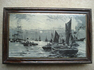 1903 Huntley&palmers 'sunset'(River Thames London) Biscuit Tin