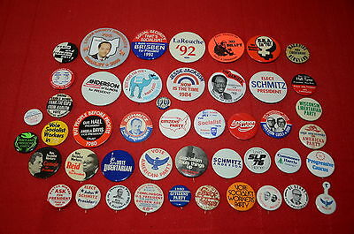 Vintage Buttons Pins Socialist Libertarian Freedom Party Lot 1344