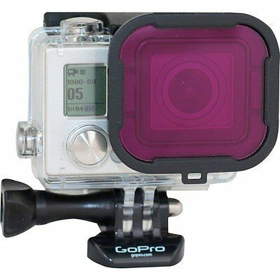 PolarPro Magenta Filter-Green Water-For GoPro Hero4 Standard Housing