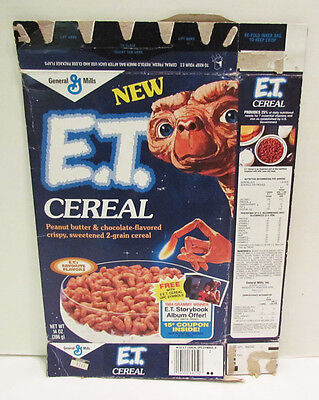 E.t. Extra-Terrestrial 1982 Cereal Box W/ Michael Jackson Offer General Mills