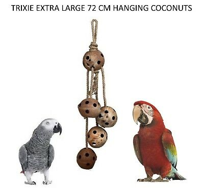 Big Parrots 72 Cm Natural Hanging Cage Toy With Jute Rope  Trixie Cage Toy 58969