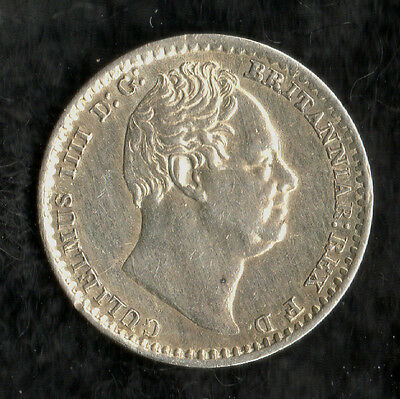 William IV Maundy Penny Silver 1833
