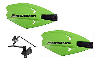 Powermadd Power X Series Handguards Guards Green Mount Kit Motorcycle Scooter