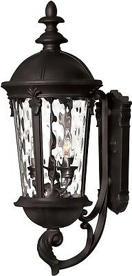 Hinkley 26h Windsor 3-Light Wall Outdoor Black 1894BK OPEN BOX