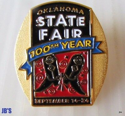 Oklahoma State Fair Centennial Pin  New in Unopened package 2007