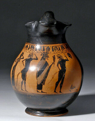 ARTEMIS GALLERY Superb Greek Attic Black Figure Oinochoe, ex-Bonham's